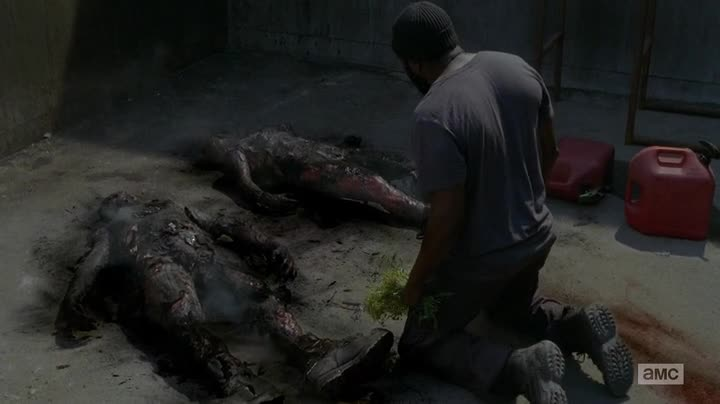 twd402 tyrese burned bodies