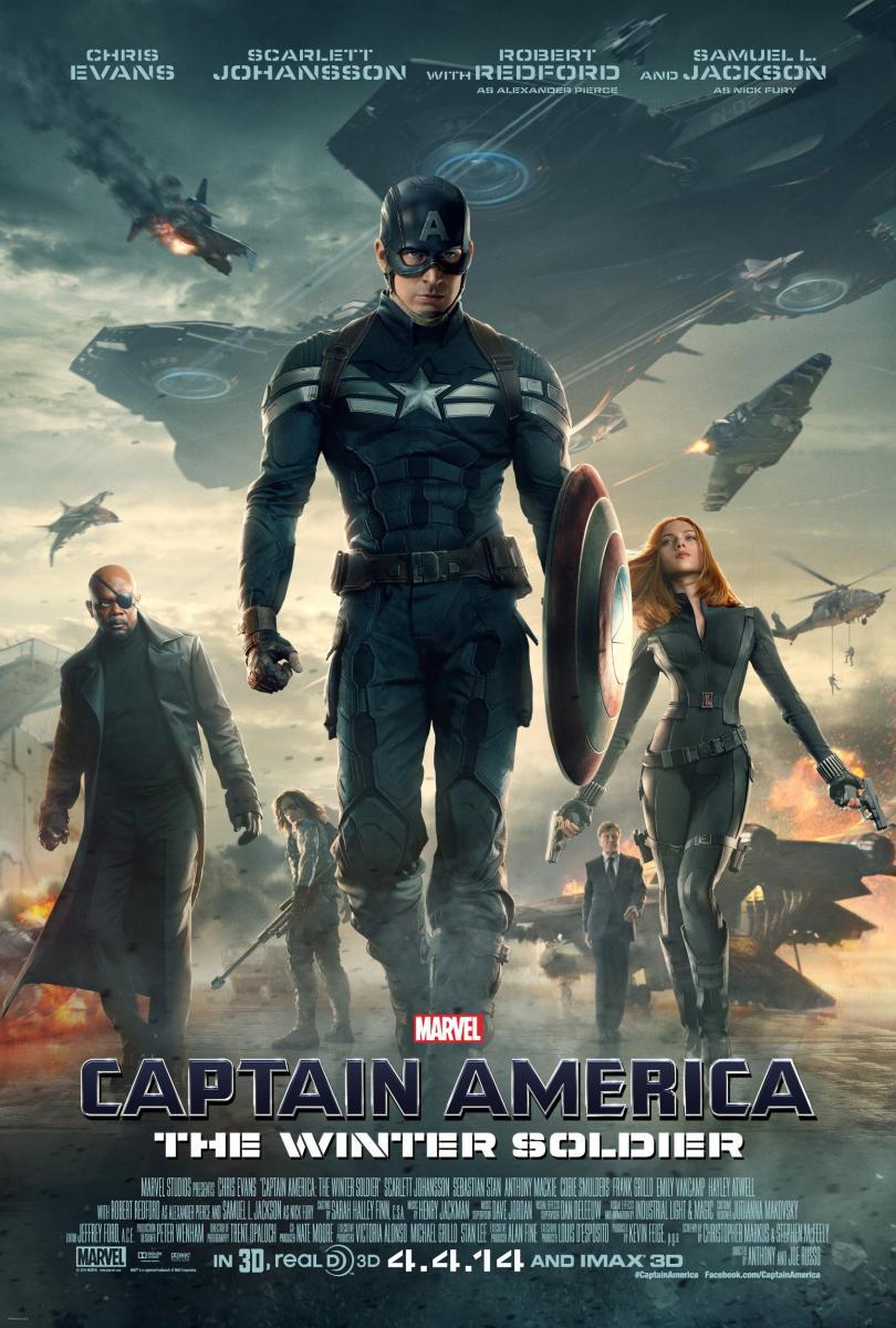 Capitan América El Soldado de Invierno película Marvel con Chris Evans Samuel Jackson Scarlett Johansson