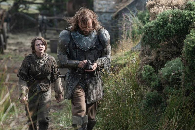 Juego de Tronos Temporada 4  Arya Stark Sandor Clegane