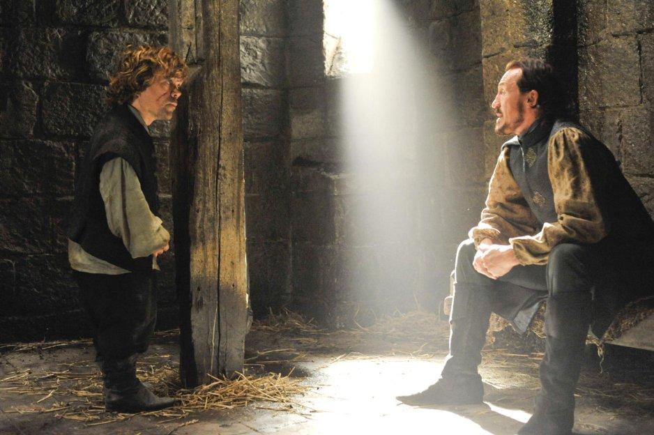 Juego de Tronos Tyrion Lannister con Bronn