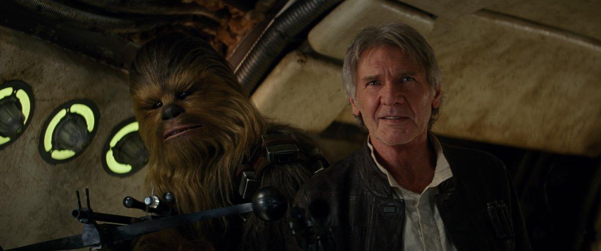 Star Wars el despertar de la Fuerza - Han Solo y Chewbacca