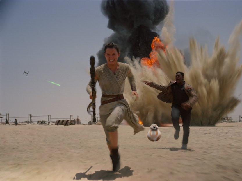 Star Wars el despertar de la Fuerza - Rey y Finn