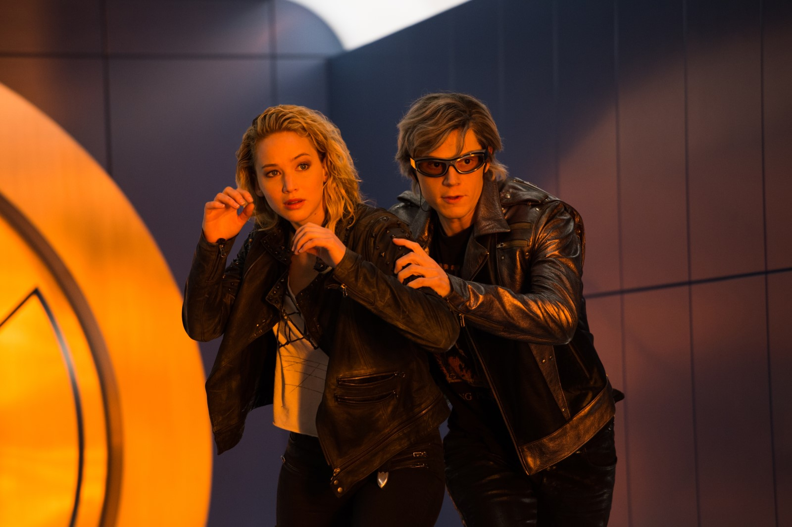 X-Men Apocalipsis con Jennifer Lawrence y Evan Peters