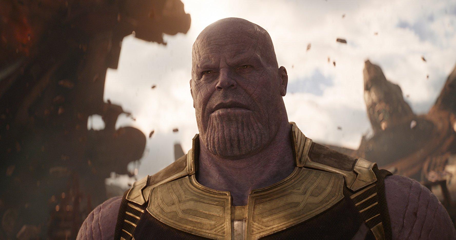 Thanos, el villano de la película Avengers Infinity War